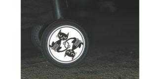 Naklejki odblaskowe na wózek Pogu