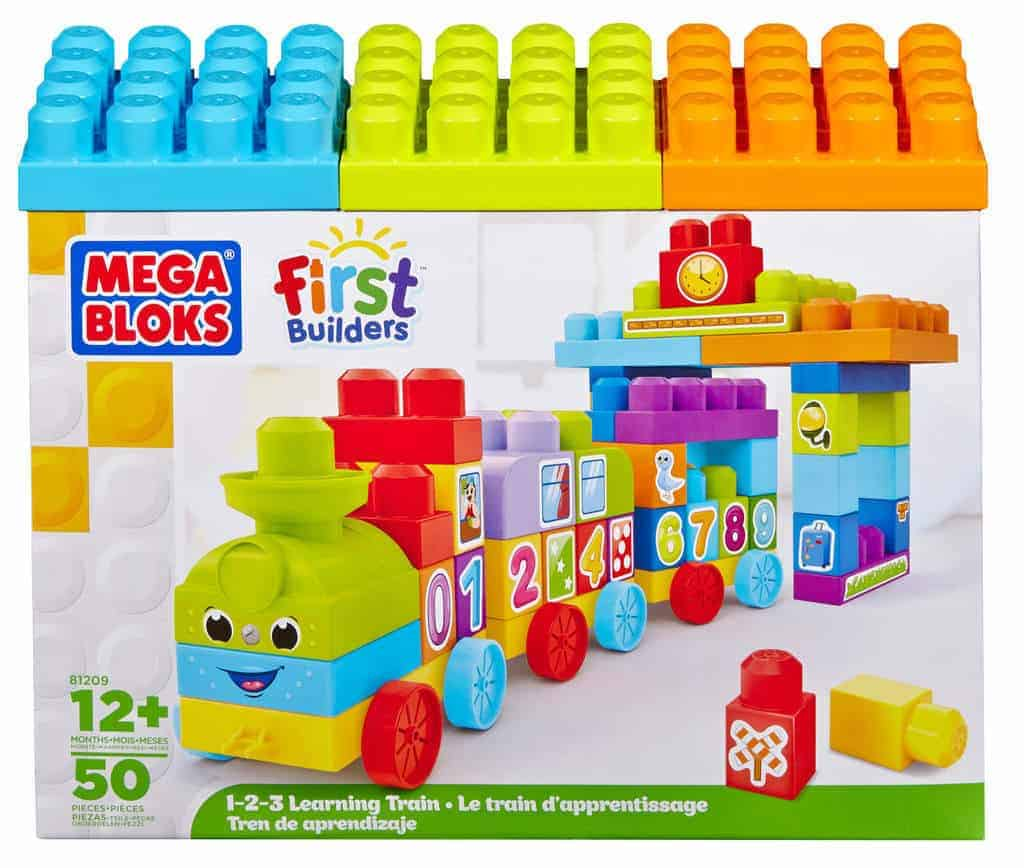 Poci g 123 mega bloks first builders bran a dzieci ca for Builders first