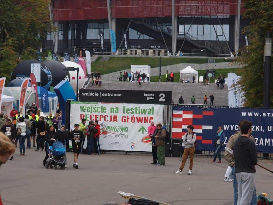 Rozgrywki planszowe 4 października na Stadionie Narodowym.